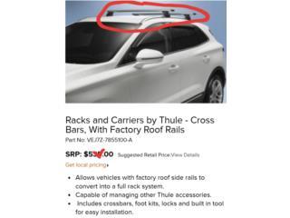 Cross rack ford edge/lincon mkc 2015 al 2019, Puerto Rico