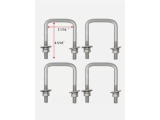 4 U-bolts galvanizados 1/2