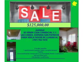 Casa, Las Lomas, 2 locales, 1 apt., 3 baños