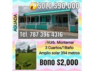 Hermosa AGUADA Solo $90,000 BONO $2,000