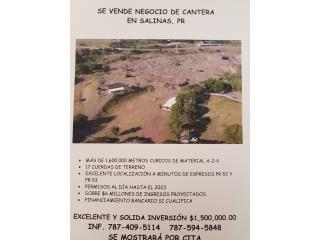 ECELENTE NEGOCIO DE CANTERA EM SALINAS,PR