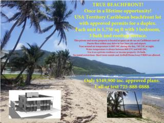 TRUE BEACHFRONT!!! Verdadero frente a la playa!!!