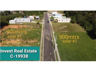 Solar 900 mtrs llano ,calle sin salida