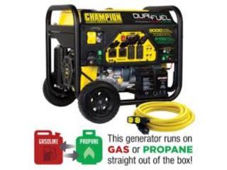 Dual Fuel Champion Portable Generator 7kw, Puerto Rico