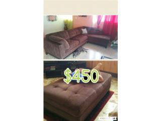 Muebles forma L y ottoman 450, Puerto Rico
