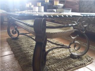 elegante set de mesas color bronce 4 piezas, Puerto Rico