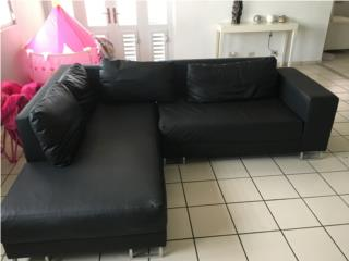 Moderno Mueble Seccional Negro, Puerto Rico