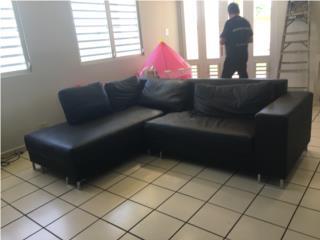 Sof� en L color negro, Puerto Rico