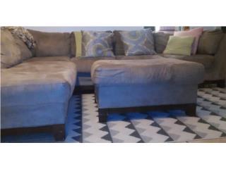 *Sofa L con ottoman Taupe* , Puerto Rico