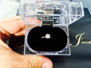 Sortija 14K diamantes, Puerto Rico