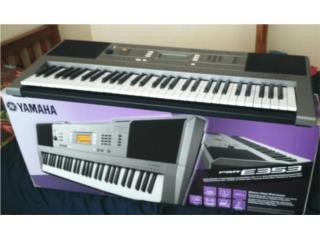 Piano 61 teclas Yamaha E353 bulto y stand , Puerto Rico
