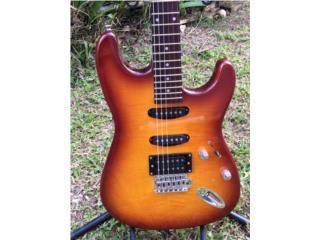 Guitarrra electrica flamed maple top y SSH, Puerto Rico