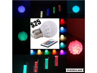 Bombilla LED de 16 Colores + Control!, Puerto Rico