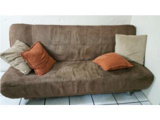 sofa cama micro fibra color marron, Puerto Rico