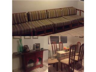 sofa, juego comedor, consola, Puerto Rico