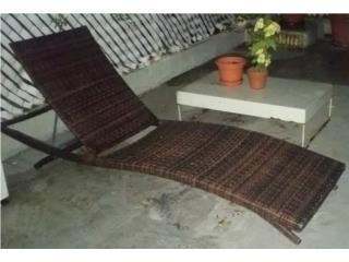 Chaise Lounge de patio con mesa, Puerto Rico