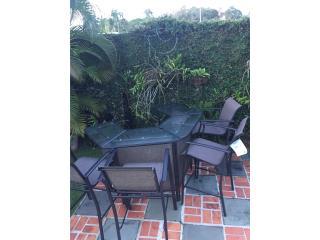 Barra para exterior o terraza con 4 sillas, Puerto Rico