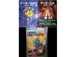 3X Original Manga Getter Robot y Grendizer, Puerto Rico