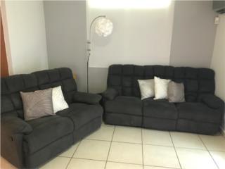 Sofa y Loveseat reclinables en microfibra., Puerto Rico