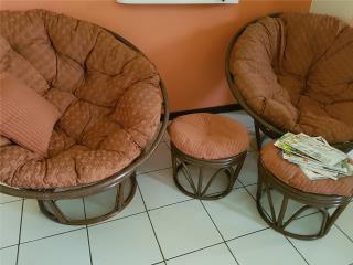 Set sillas con otoman, Puerto Rico