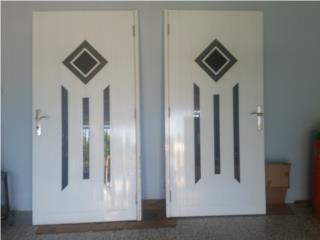 Puertas aluminio solidas, con buena cerradura, Puerto Rico