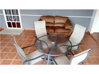 Juego Patio 4 Sillas Mesa Cristal (Nuevo), Puerto Rico