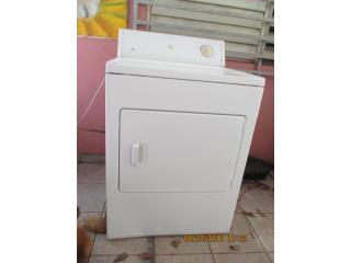 Secadora de gas W/house, blanca, $140.00, Puerto Rico