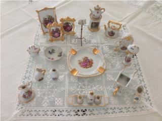 coleccion de 20 miniaturas porcelana Limoges,, Puerto Rico