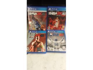 JUEGOS DE PS4 NBA2K15 NBA2K16 WWE2K15 MLB15, Puerto Rico