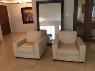 2 Leather Sofa Chairs, Puerto Rico