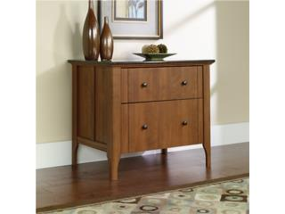 Sauder Appleton Faux Marble Top Lateral File, Puerto Rico