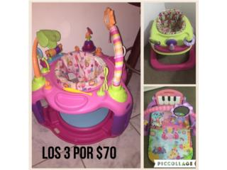 Baby gym, Andador y juego estacionario $70 , Puerto Rico