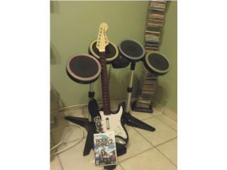Rock Band 2 Wii con bateria y guitarra., Puerto Rico