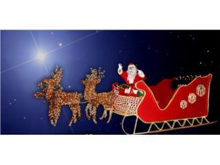 Trineo De Santa Claus listo para actividades, Puerto Rico