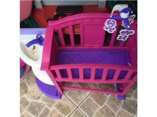 Cuna sillita y organizador de juguete, Puerto Rico