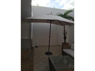 Sombrilla rectangular con base y cover, Puerto Rico