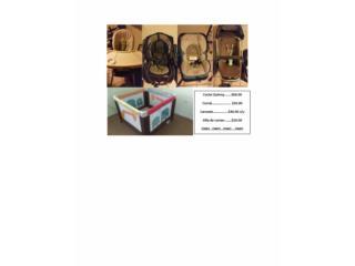 Coche, carseats, corral, silla de comer, Puerto Rico