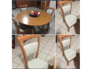 Aprovecha!! Juego de comedor de 4 sillas, Puerto Rico