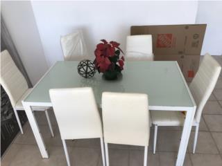Comedor 6 sillas Blanco, Puerto Rico