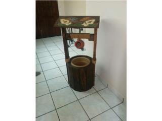 fuente de madera, Puerto Rico