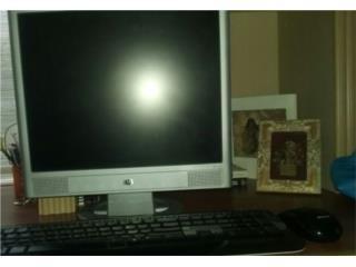 Monitor + Teclado y Mouse (Monitor HP 15Plg), Puerto Rico
