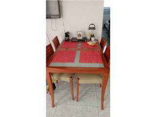 Comedor moderno y compacto de 6 sillas, Puerto Rico