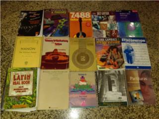 Libros de musica guitarra y bateria, Puerto Rico