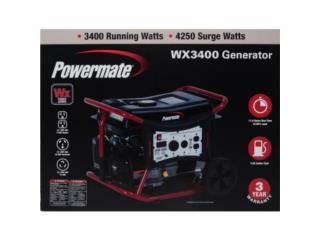 POWERMATE WX3400-4250 Watts NEW $499 fijo, Puerto Rico