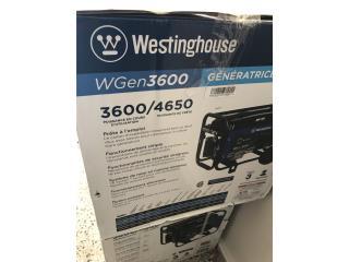 Planta westinghouse de 3600 whats en su caja , Puerto Rico