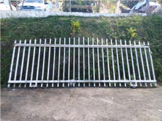 portón de rejas corredizo de 12'de largo, Puerto Rico