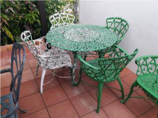 Elegante mesa de patio aluminio, Puerto Rico