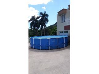 Piscina de lona 4' x18'., Puerto Rico