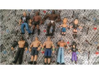 WWE LOTE DE 10 LUCHADORES SALEN A $2.50 C/U., Puerto Rico