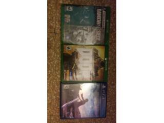 Juegos Ps4 y Xbox one., Puerto Rico
